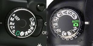 Canon and Nikon with different exposure modes