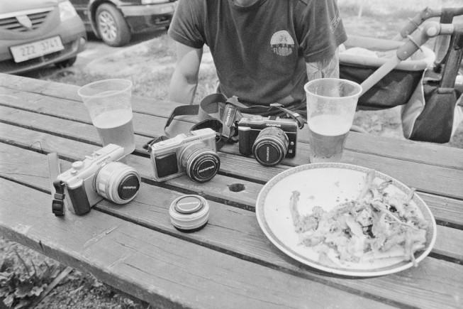 Picture taken to black and white film. Nikon FM2, AF Nikkor 24 mm F2.8D and AF Nikkor 50 mm F1.8D, Ilford Pan 400