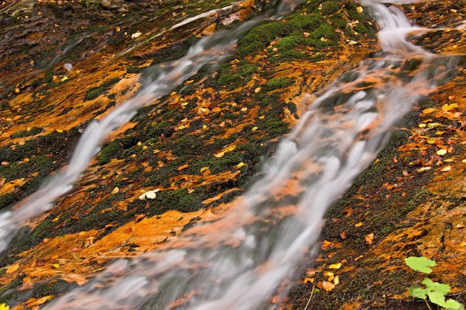 "Long exposures of running water create an interesting ""milky"" effect. Photo: Jardak"