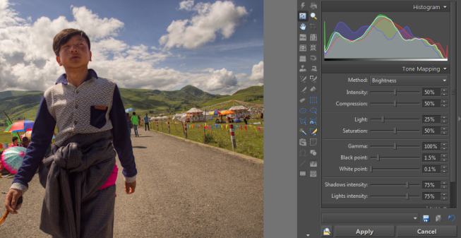The picture after converting it and applying Tone Mapping.